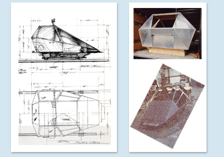 drawings and fabrication for the incinerator car
